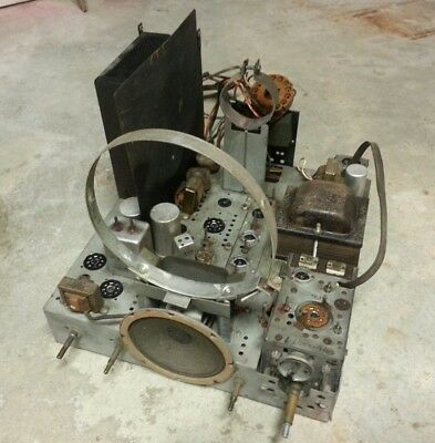 "Vintage Philco 7"" Television Tv Parts Chassis"