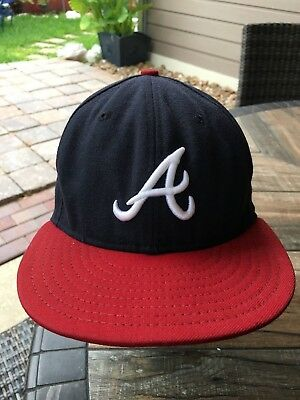 Atlanta Braves 7 1 8 New Era 59Fifty Official On-Field Fitted Baseball Cap 292aa58e1b50