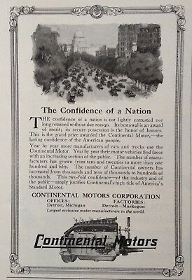 1917 Auto Ad(A13)~Continental Motors Corp. Detroit. Continental Vehicle Motors