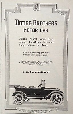 1917 Auto Ad(A13)~Dodge Brothers, Detroit. Dodge Touring Car, Roadsters