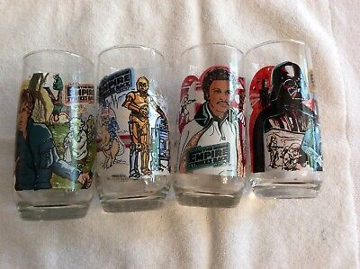 Star Wars - The Empire Strikes Back 1980 Burger King Coca-Cola Glasses Set of 4