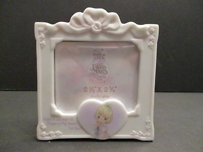 Precious Moments Mini Picture Frame Theres a Place in my Heart Ceramic 2x2  New