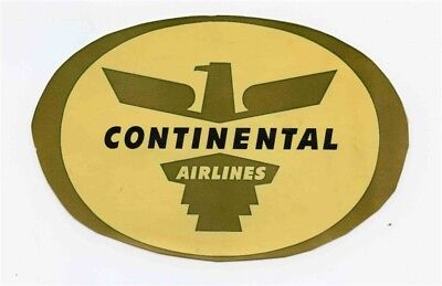 Continental Airlines Decal Vintage