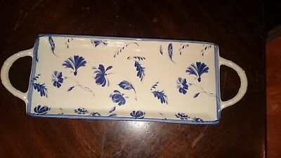 Villeroy & Boch - Cottage Charm Design in Blue and White - Long Handled Dish