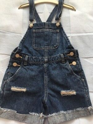 Girls Next Short Dungarees Size 6 Yrs Worn Once