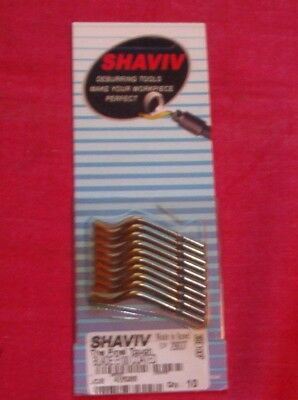 Shaviv Deburring Blades E100 Pack Of 10 Machinist Tool Lathe Milling Etc