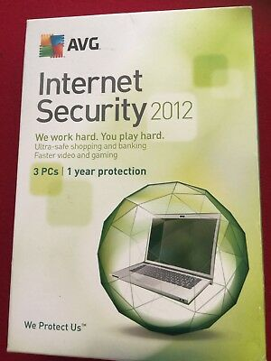 AVG Internet Security 2012 Windows - Protects 3 PC's for 1 Year