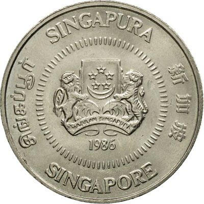 [#529504] Coin, Singapore, 50 Cents, 1986, British Royal Mint, EF(40-45)