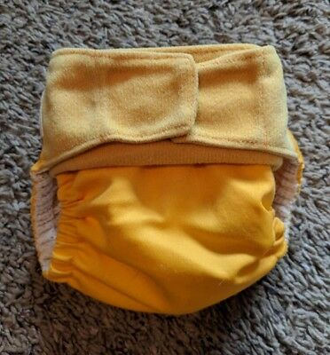 Grovia Hybrid Gro baby Yellow Shell + 2 Inserts One Size Cloth Diaper Cover