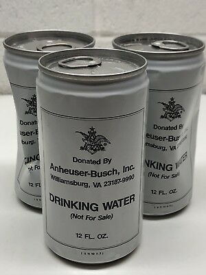 1960's-1970's Anheuser Busch Drinking Water Collectible Cans (RARE PULL TAB)