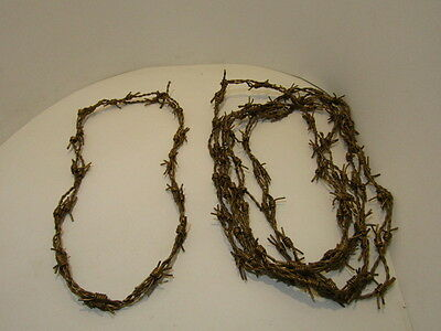 5 Leather barbed wire necklaces..... Gold colored...., 575  bracelet.....hat ban