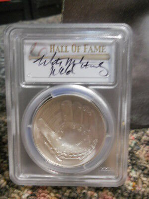 2014-P  $ 1  mitch williams (wild thing) signed HOF PCGS MS70 coin