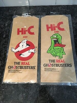 Hi-C The Real Ghostbusters Promo Lunch Bag Set of 3 In Plastic Vintage 80s