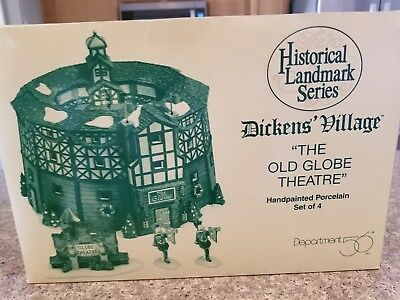 NEW Dept 56 Dickens Village ~ The Old Globe Theatre ~ New In Box 58501