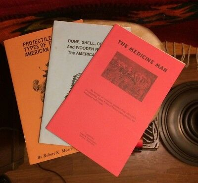 3 Books: Vintage Native American Points Relics Collections Illustrated Guides