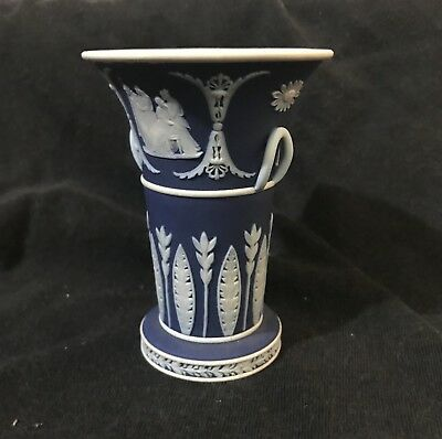 Wedgewood Jasperware Blue Vase