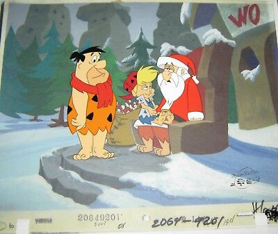 Original Production cel - The Flintstones Christmas in Bedrock