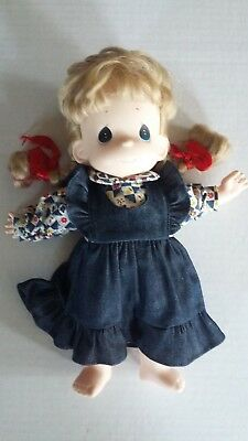 """Precious Moments 12"""" Doll - Girl with braids and dress outfit"""