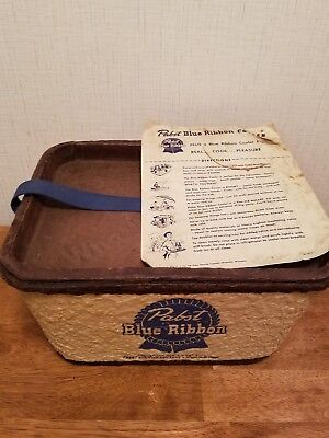 Vintage Pabst Blue Ribbon Beer Cooler Complete With Directions Excellent