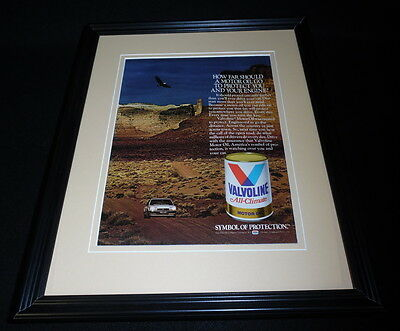 1984 Valvoline Oil Framed 11x14 ORIGINAL Vintage Advertisement