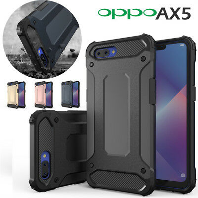 For Oppo AX5 Deluxe SHOCK-ABSORBERS Hybrid Dual layer Case TPU Shock Proof Cover