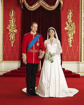 PRINCE WILLIAM, Duke of Cambridge, KATE MIDDLETON Glossy 8x10 Photo Poster
