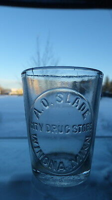 A.O Slade City Drug Store Winona Minn medical dose glass