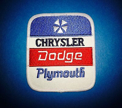 Chrysler Dodge Plymouth Car Auto Club Iron On Jacket Farmer Hat Patch Crest