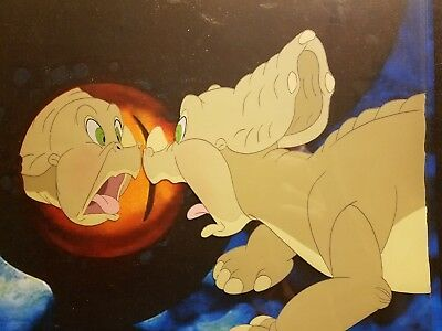 Original THE LAND BEFORE TIME Movie Production Animation Cel ICONIC SCENE!