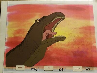 Original THE LAND BEFORE TIME Film Production Animation Cel DON BLUTH - RARE!!!