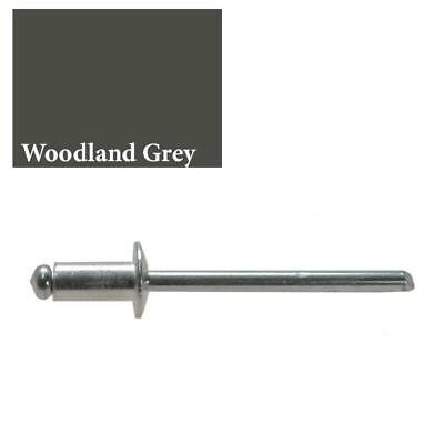 "WOODLAND GREY / SLATE GREY Rivet 73 AS 5-4 (dia 5/32"" - 4mm) Colorbond"