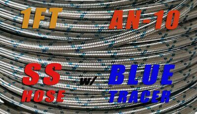 AN10 10AN Stainless Steel Braided Hose - Fuel/Oil/Water for AN10 Swivel Fitting