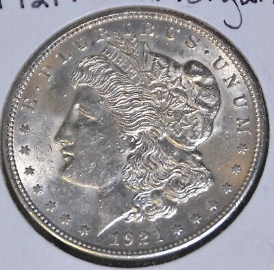 1921-P AU Almost Uncirculated MORGAN SILVER DOLLAR $1 COIN