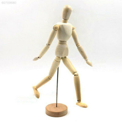 9C1A Wooden Manikin Mannequin 12Joint Doll Male Model Articulated Limbs Display