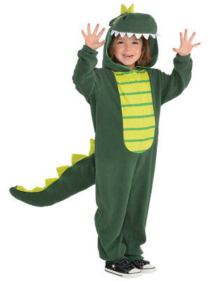 Child Zipster Dinosaur Costume T Rex Boys Girls Book Week Day Fancy Dress Outfit