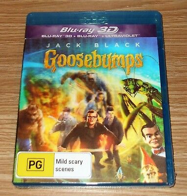 Goosebumps : 3D Blu-ray + Blu-ray Lenticular Cover 2-Disc Set Brand New & Sealed