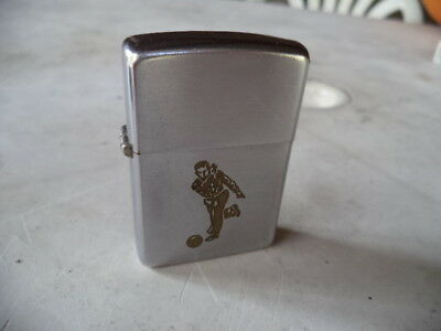 Zippo  Lighter  Vintage   Bowling Player Age 1937 - 50 Good Condition  Used