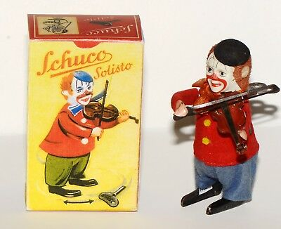 Schuco Tanzfigur Solisto in Reprobox - Clown mit Geige - Made in Germany