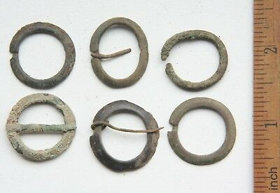 Group Of Ancient Old Bronze Fibula Brooch (JLL)