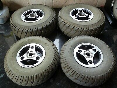 Sterling Sapphire 2 Mobility Scooter Wheels And Tyres Complete Set