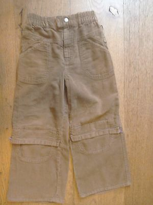Designer Oilily Tan Brown Corduroy Jeans Elasticated Trousers 7 yrs 122 cm