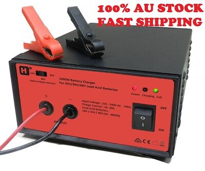 HW International - 24V/36V/48V Switchable,18-20A,1000W LeadAcid Battery Charger