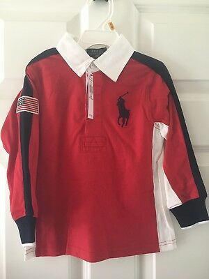 Baby Toddler Ralph Lauren Polo Rugby Size 3 3t Red Retail $55