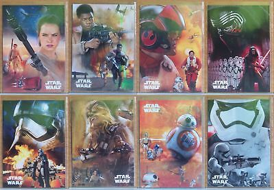 Topps Star Wars The Force Awakens Character Montages 8 card insert set. Series 1