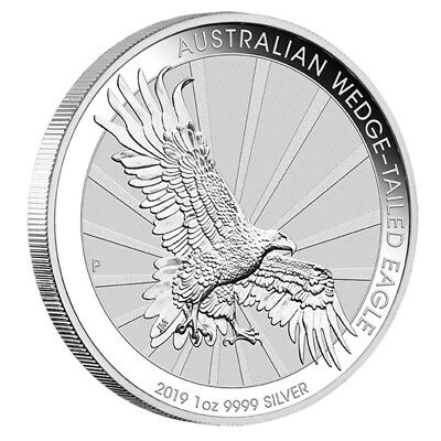 1 oz Silber Wedge Tailed Eagle 2019 - 1 Dollar Australien - in Münzkapsel