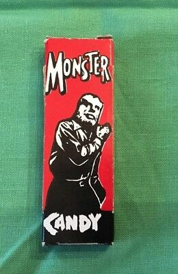 Vintage Early Monster Candy Box From World Candies Inc-Empty, Red Wolfman
