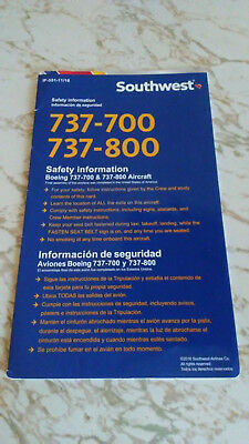 Southwest Airlines B737-700/800 Safety Card