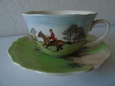 Royal Doulton Series Ware D6326 Simpson's Fox Hunting Scenes Cup & Saucer Set