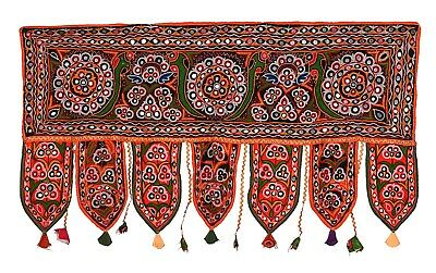 Indian Embroidered Window Door Decor Wall Hanging Valance Vintage Antique Toran