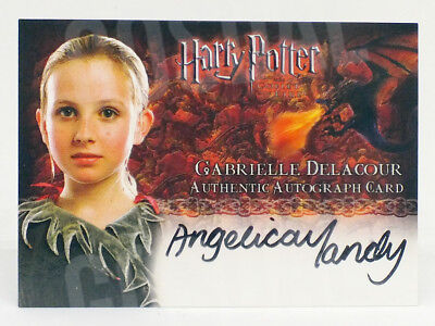 Harry Potter Goblet of Fire Angelica Mandy Gabrielle Delacour Autograph Card